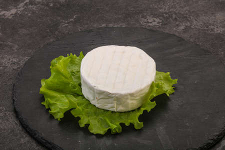 Delicious traditional Brie round soft cheese