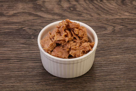 Canned tuna fish fillet for salad