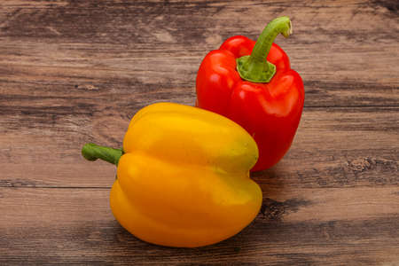 Two Ripe sweet Bulgarian bell peppers