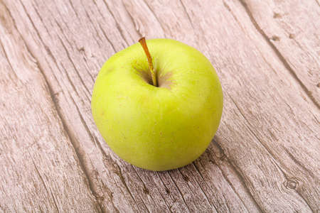 Ripe and sweet green tasty apple