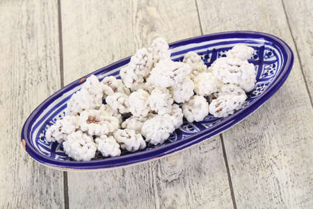 White Almond Candy heap in the bowl