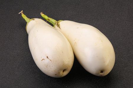 Ripe and tasty white organic eggplant or aubergine