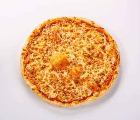 Italian traditional Pizza Margarita with cheese and tomato sauce Archivio Fotografico