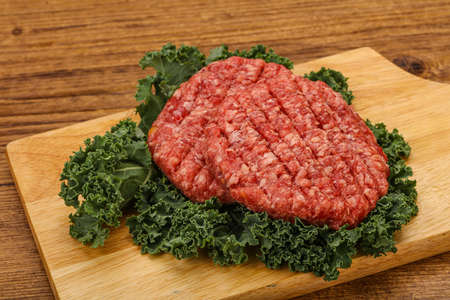 Raw beef burger cutlet for grill Stockfoto