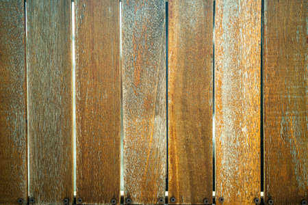 Close up of Wooden fence. Beautiful new wooden picket fence. Maldives Archivio Fotografico