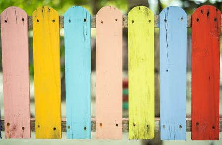 Texture of small colored fence. Maldives Archivio Fotografico