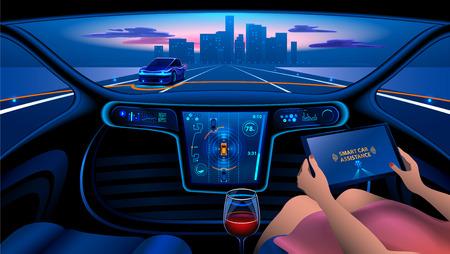 Interior del coche inteligente Foto de archivo - 77851158