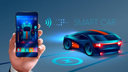 voiture intelligente d'application