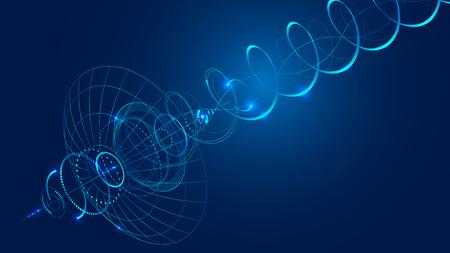 Zusammenfassung Technologie Hintergrund. Vektorgrafik