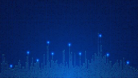 Digital background of glowing numbers.