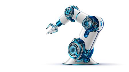 Roboterarm-Symbol. Vektorgrafik