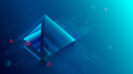 blockchain concept. Digital currency mining. Big Data Technology background. Financial pyramid consists of digits.