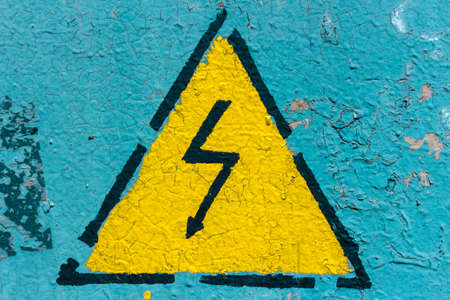 amperage: Sign of danger Stock Photo