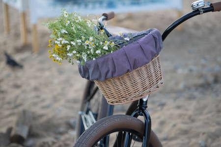 impeller: bike in the summer on a sandy beach