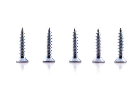 intimately: insulated screw on a white background near