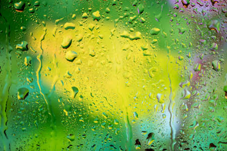 sopping: bright abstract background of water drops on glass