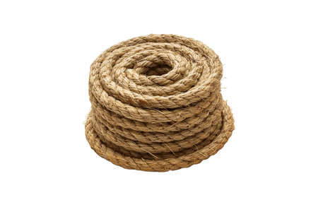coiled: Coiled rope Stock Photo