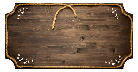 Wooden board with rope frame photo