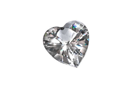 coeur diamant: De coeur de diamant isol� sur fond blanc