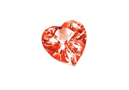 diamond shaped: Heart shaped diamond  isolated on white background