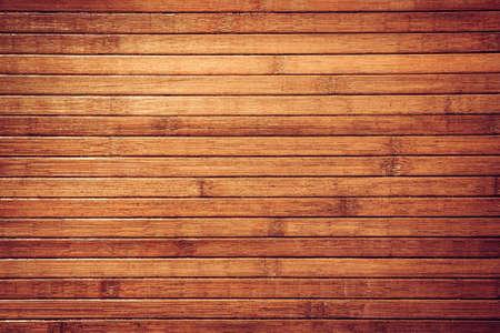 textura madera: Horizontal retro de bamb� marr�n fondo tropical. Textura Obsoleto