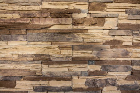 stone wall, flat stacked background and texture Imagens