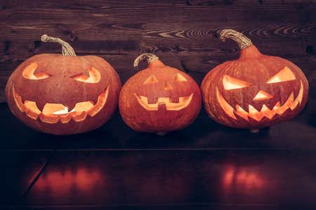 calabazas de halloween: retrato calabazas de Halloween de la familia
