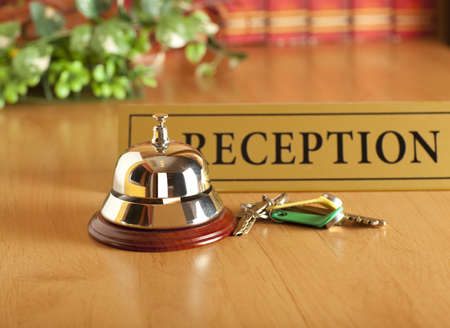 hotel reception: old hotel bell