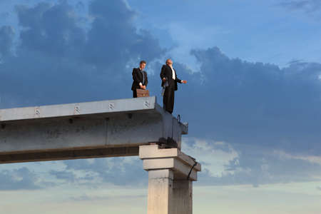 Financiële crisis Business concept Stockfoto