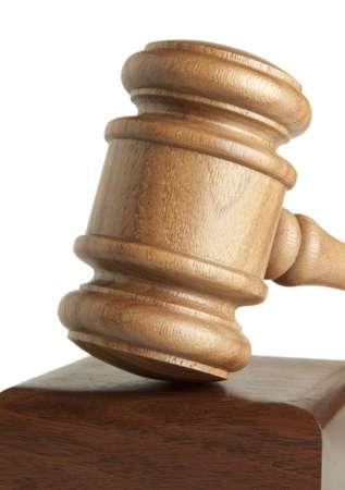 prosecutor: Gavel Isolated  Stock Photo