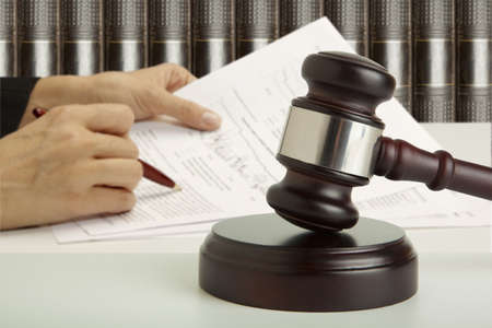 the litigation: Gavel  Stock Photo