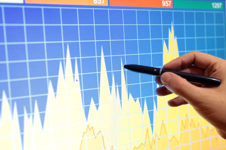 Market analyze Stock Photo - 15423116