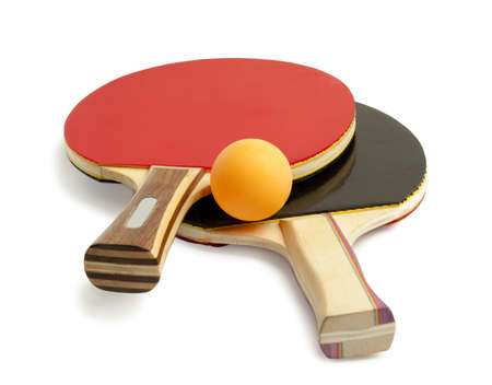 pingpong: paletas de tenis de mesa y bolas