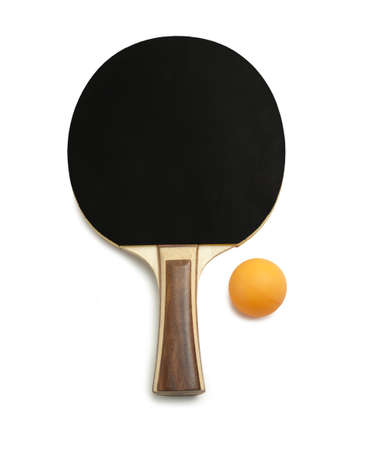 table tennis paddles and balls  photo