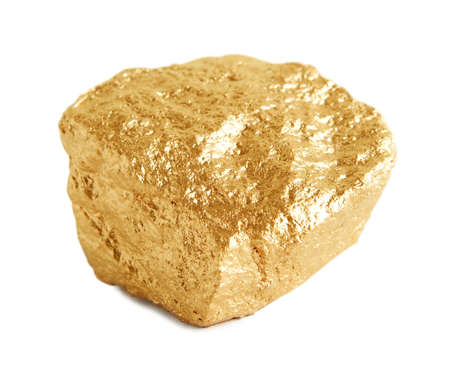 raw gold: Gold Nugget  Stock Photo