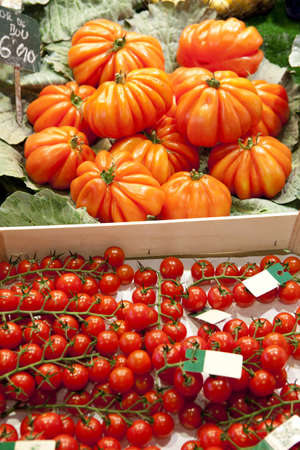 boqueria: Tomatoes on market, in La Boqueria, market Barcelona