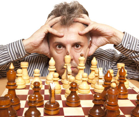 chess player: The chess player  Stock Photo