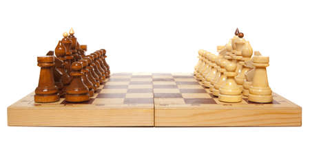 Chess game isolated on white background photo