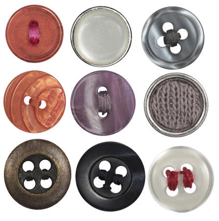 collection sewing button on white background  photo