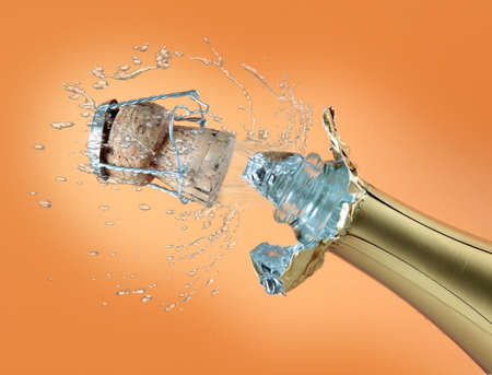 Champagne bottle ready for celebration  photo