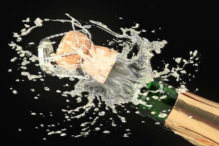 celebration champagne: Champagne bottle ready for celebration  Stock Photo