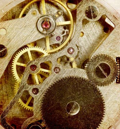 reloj antiguo: Mecanismo Vintage antiguo reloj