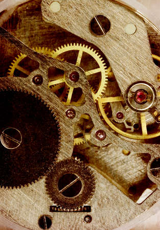 Vintage old clock mechanism  photo