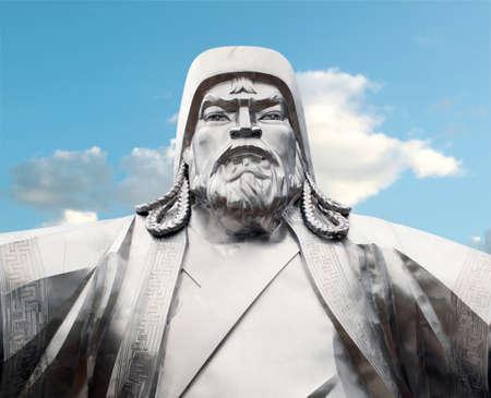 emperors: Chingiis Khaan Mongolian Emperor  Stock Photo