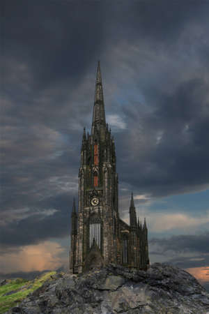 gothic castle: Misterio g�tico castillo de Edimburgo.