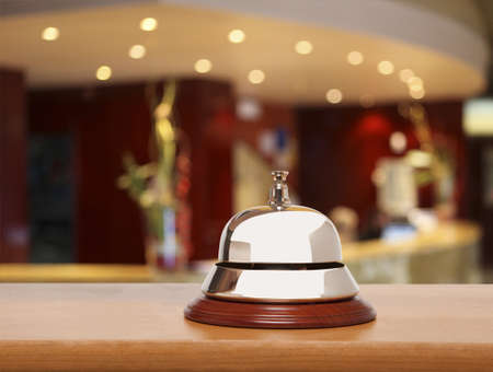 hotel service: Service bell at the hotel Stock Photo