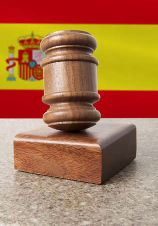 Gavel and Flag of Spain  photo