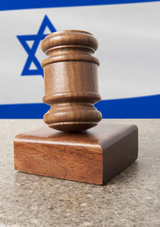israeli: Gavel and Flag of Israel