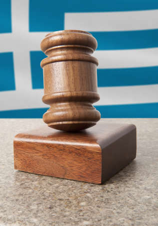 Gavel and Flag of Greece Stock Photo - 15732597