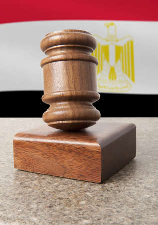 arbitrate: Gavel and Flag of Egypt